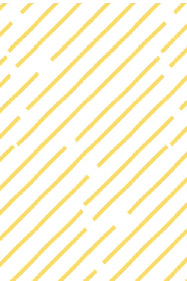 White background with yellow diangle strokes