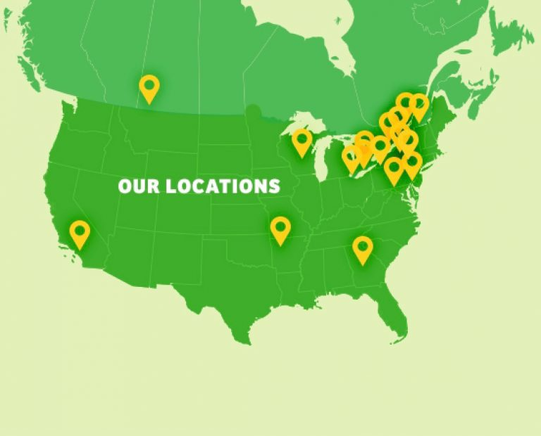 Our locations on USA map